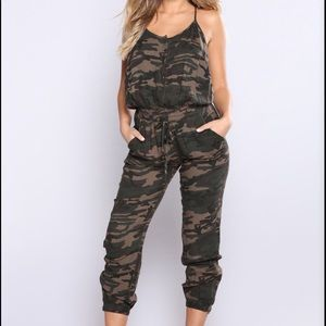 Fashion Nova Camouflage Jumpsuit